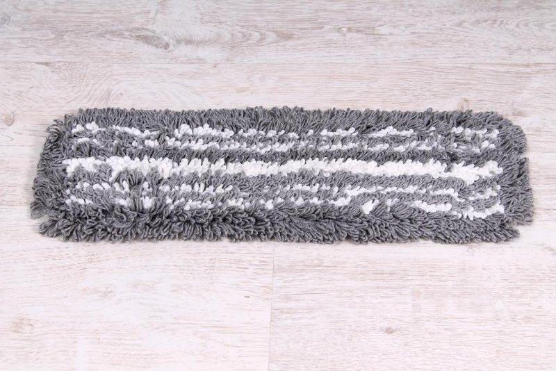 Насадка для швабры HAUSMANN ECO-MICRO, универсальная 41*11,5 см, хлопок/микрофибра, серый