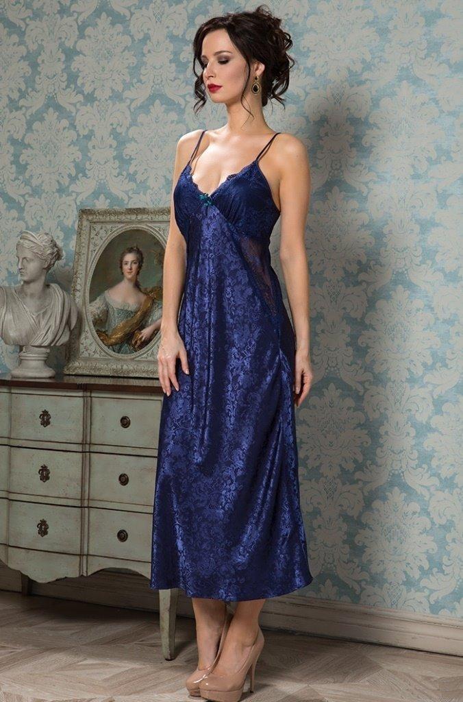 Длинная шелковая сорочка ANGELINA DELUXE (9538)