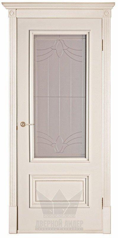 Межкомнатные двери Дверной Лидер Дверной Лидер Йорк Ваниль Античное золото ПО