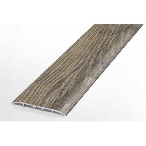 Порожек 60мм напольный алюминиевый широкий скрытое крепление Лука HIT, 4030 Дуб французский темный