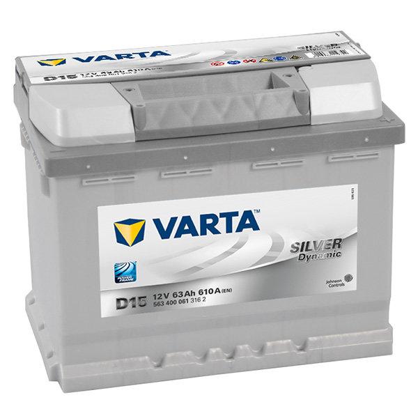 Аккумулятор автомобильный Varta Silver Dynamic D15 6СТ-63 обр. 563 400 061 316 2 63Ач обр.
