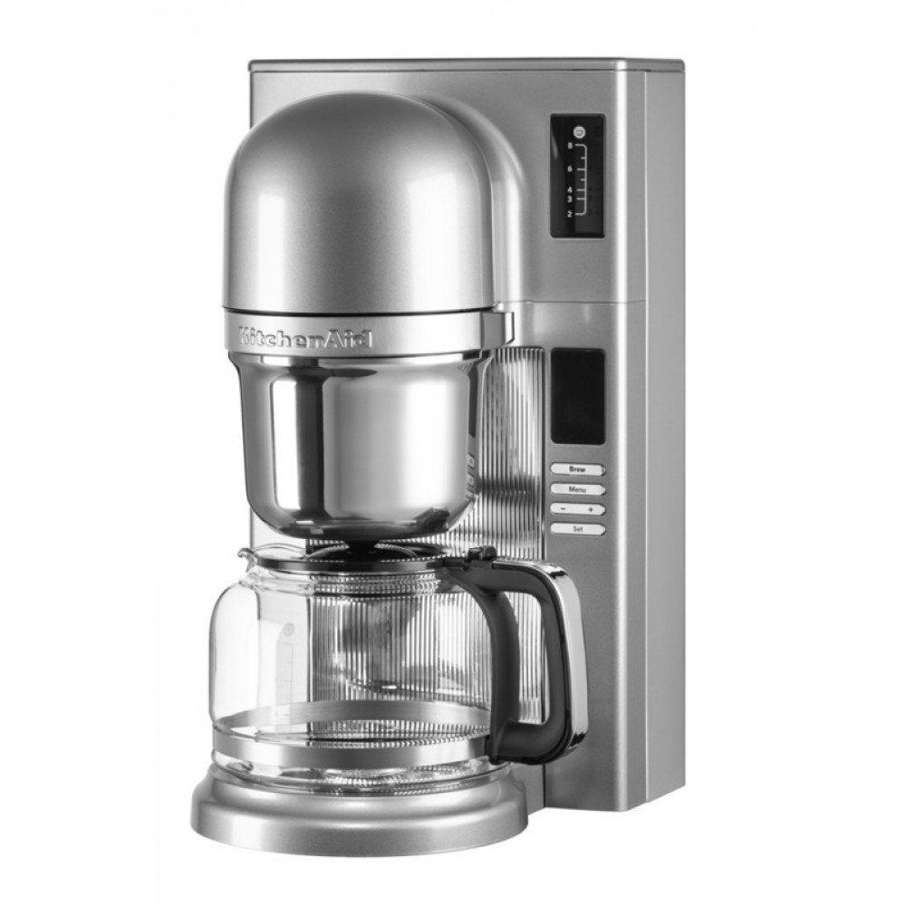 Капельная кофеварка KitchenAid, серебристая, 5KCM0802ECU