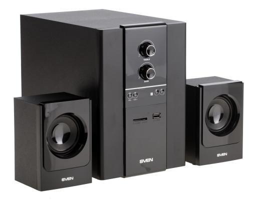 Компьютерная акустика Колонки Sven MS-1820 2х11 + 18 Вт черный