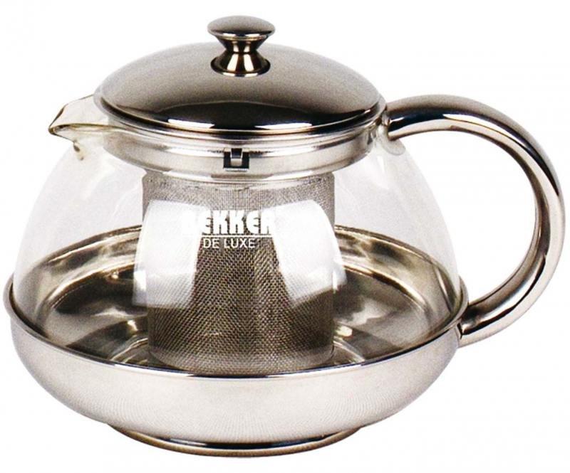 Чайник заварочный Bekker Deluxe BK-397 0.5 л металл/стекло прозрачный
