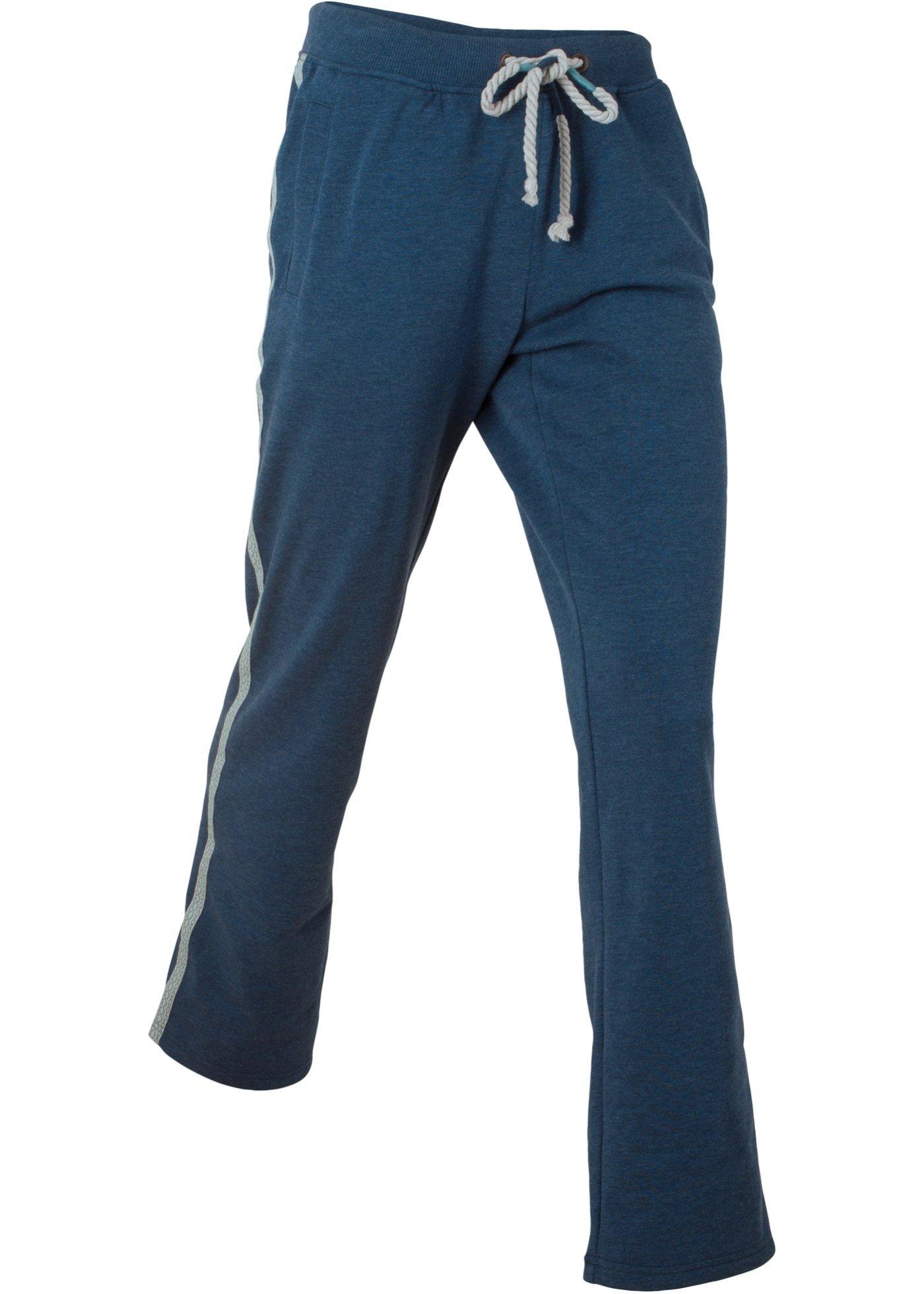 Спортивные брюки с вышивкой для женщин, цвет синий