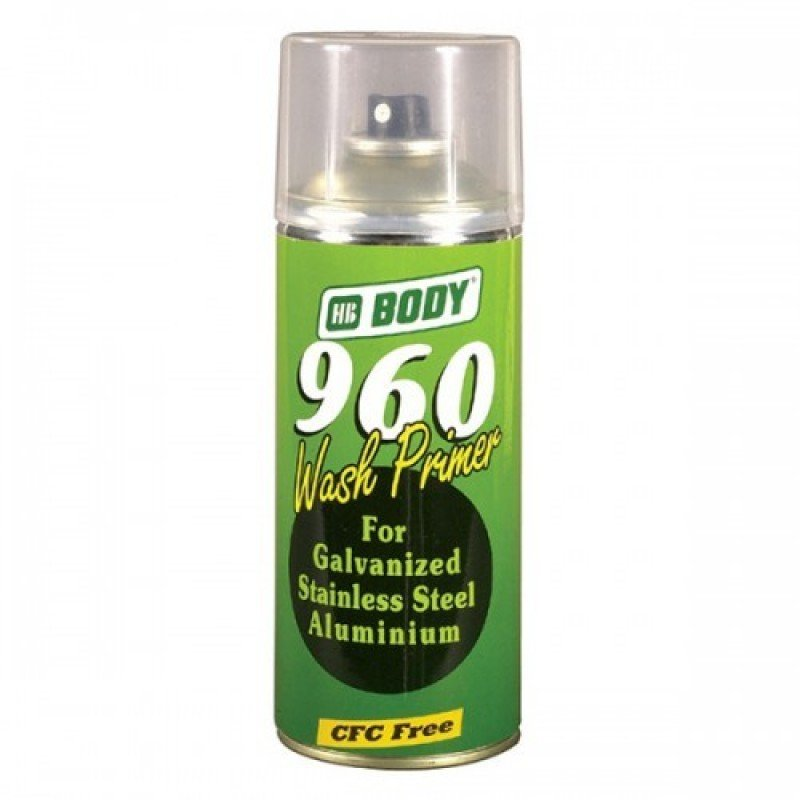 Грунт аэрозольный BODY 960 WASH PRIMER (5100300050) кислотный 2К (0.4 л.) BODY-960-WPRIM-0.4