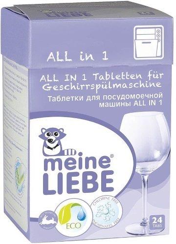 Таблетки для посудомоечной машины MEINE LIEBE 341025724 All in 1 24 шт.