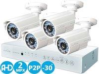 Комплект видеонаблюдения IVUE AHD Дача 4+4 2 MPX (IVUE-1080P AHC-B4)