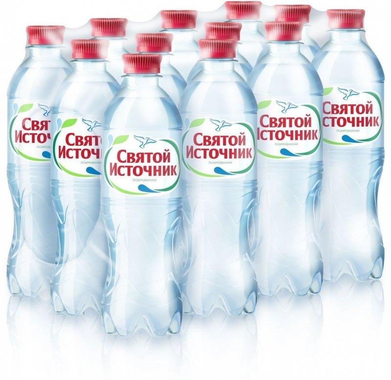Вода питьевая Святой источник газированная 0.5л ПЭТ (12 штук в упаковке)