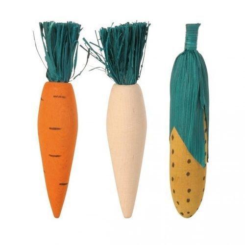 Игрушка для грызунов TRIXIE деревяные овощи 10см