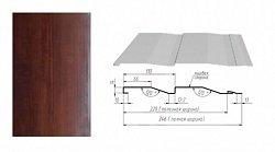 Сайдинг наружный металлический Альтер Корабельная доска Темное дерево 4м