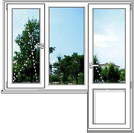 Пластиковое окно VEKA WHS - размер 2200*1950