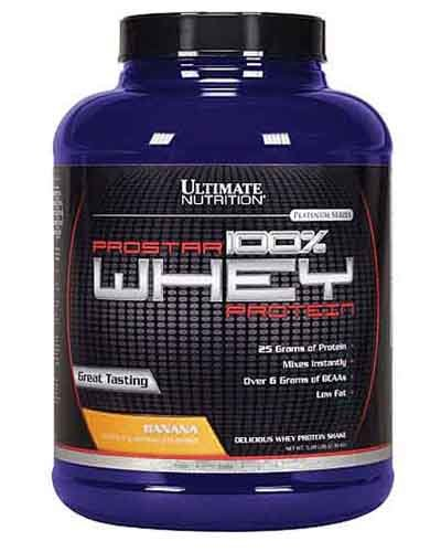 Prostar 100% Whey Protein 2390 гр - 5lb (Ultimate Nutrition) шоколад