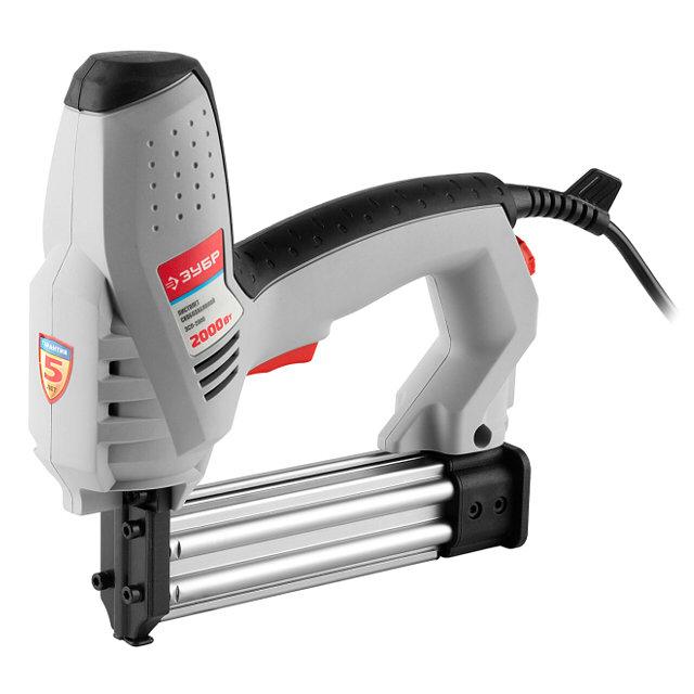 степлер электрический ЗУБР ЗСП-2000 2000Вт скоба 15-25 мм гвоздь 15-30 мм
