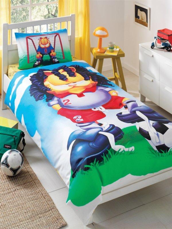 Детское постельное белье TAC Garfield FOOTBALL ранфорс, 1, 5 спальный