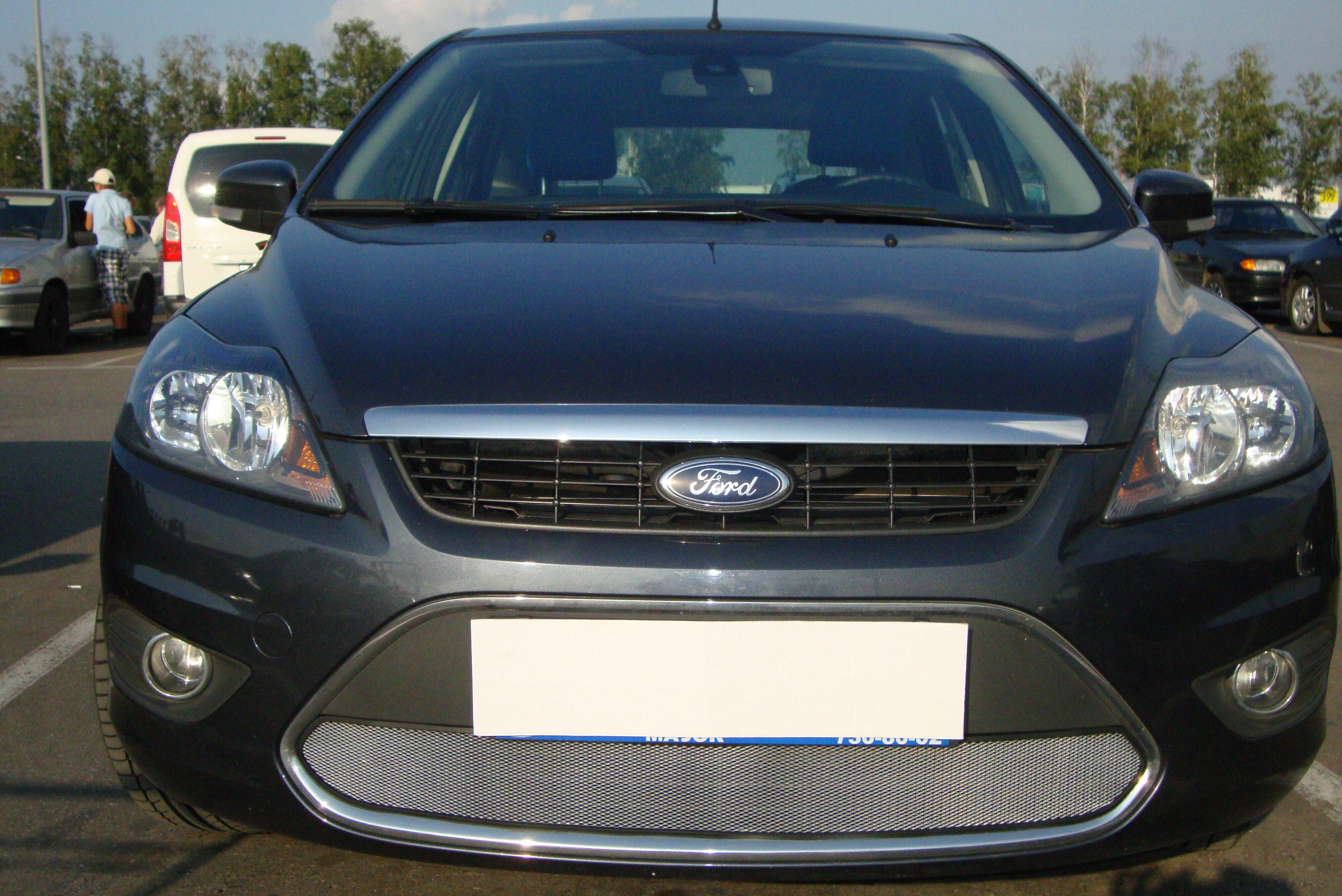 Защита радиатора для Ford Focus II рестайлинг с 2008-2012 г.в. (Стандарт) chrome