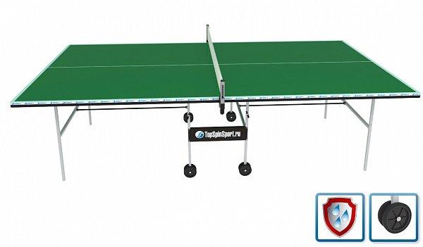 Всепогодный теннисный стол Суровец+ (зеленый)