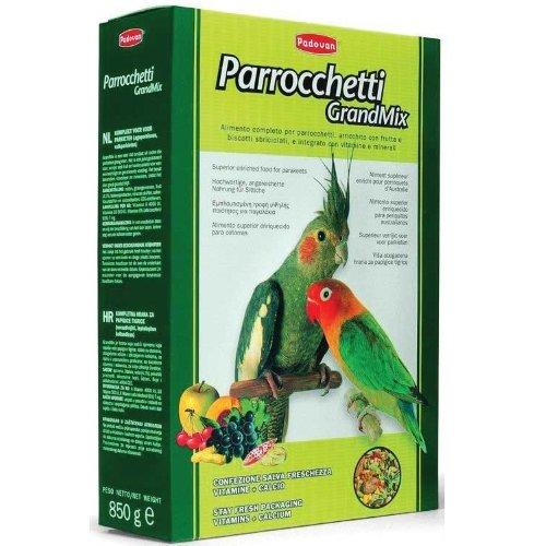 Корм PADOVAN GRANDMIX parroсchetti основной для средних попугаев, 850г