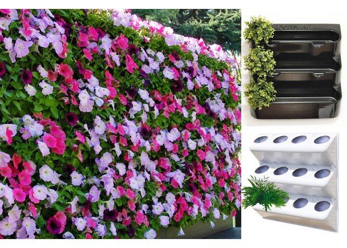 Стена из цветов. Фитомодуль 60х65 см, цвет - белый