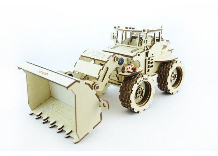Конструктор 3D деревянный подвижный Lemmo Трактор Бульдог - Б-1