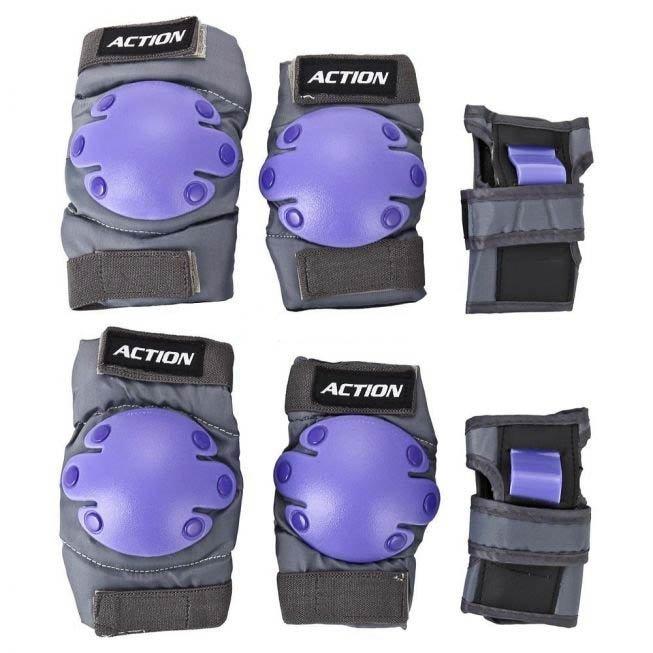Комплект защиты для роликовых коньков Action PW-302