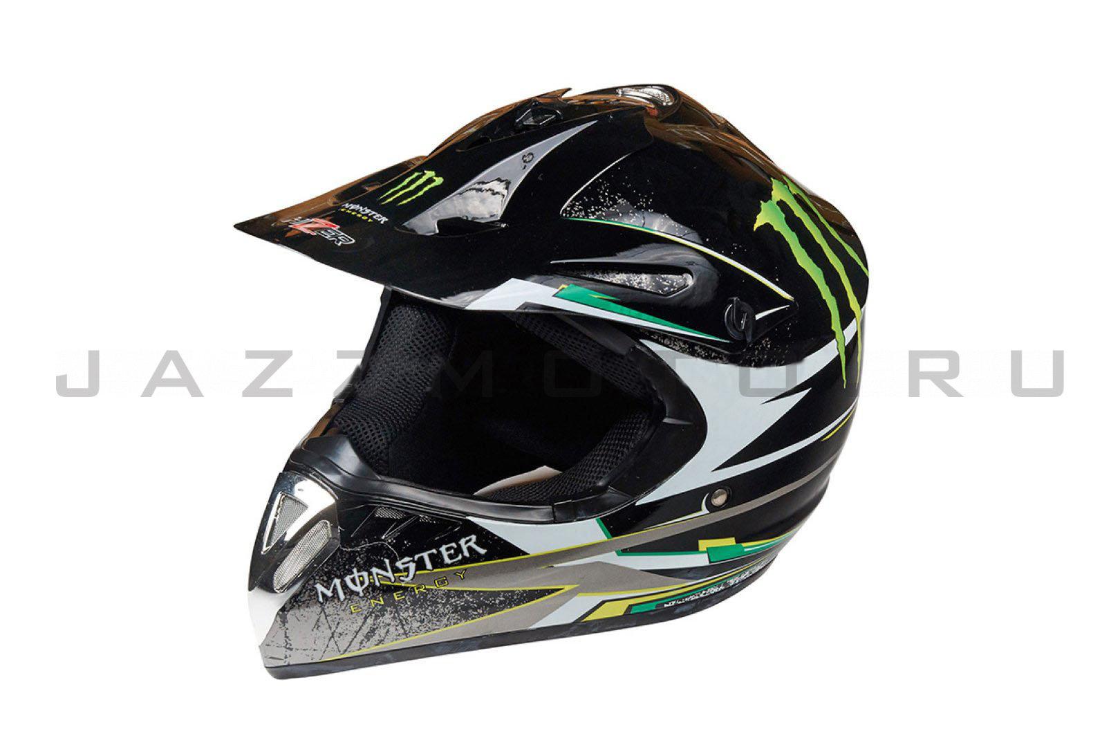 Шлем кросс HIZER 610 BLACK MONSTER