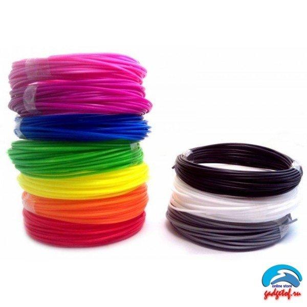Стержень PLA пластмасса ABS пластик, картридж для 3D ручка 3DPEN 2, разные цвета, 5 шт
