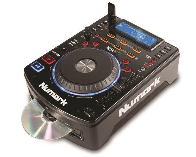 NUMARK NDX500, настольный CD/MP3-плеер, USB-Flash, встроенная аудио карта, USB-midi