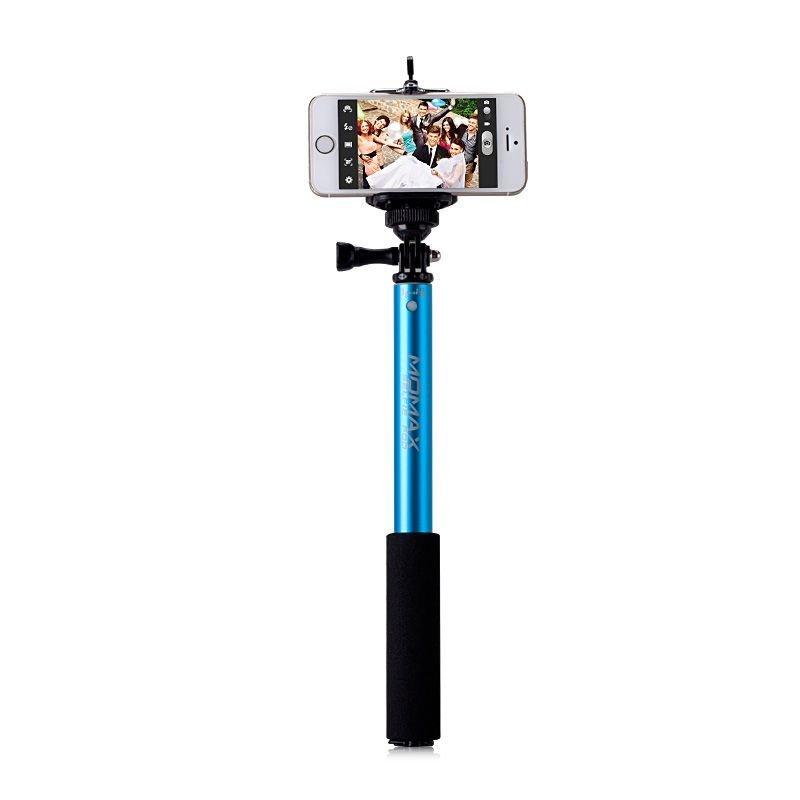 Монопод (селфи стик) Momax SelfiFit Bluetooth Selfie Pod (KMS1) синий