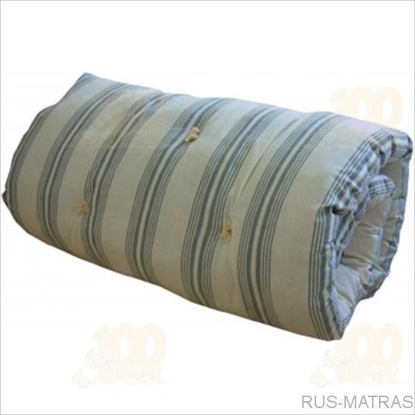 Матрас ватный ГОСТ ширина 120 см (120 см, 190 см, хлопок, вата, беспружинный, стандартный)