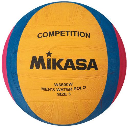 Мяч для водного поло Mikasa W6600W, желтый, 5, любительский, клееный