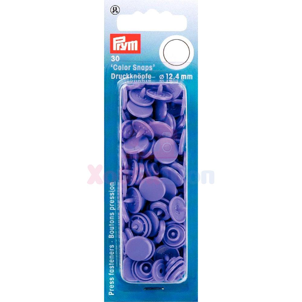 Кнопки Color Snaps пластик 30 шт сиреневый Prym 393128