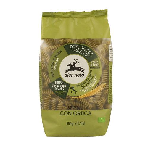 Макаронные изделия Spirelli из пшеничной муки семолины дурум с крапивой - Alce Nero