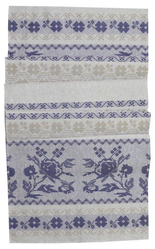 Рушник льняной Белорусский цвет индиго (50x150)