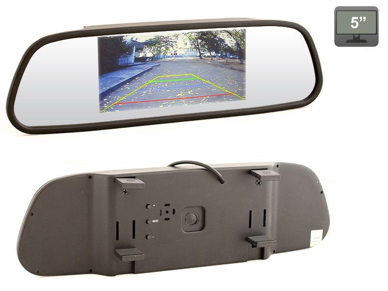 """Зеркало заднего вида со встроенным монитором 5"""" AVIS Electronics AVS0501BM"""