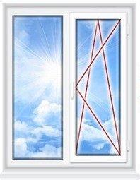Пластиковое окно VEKA (двустворчатое окно ПВХ со стеклопакетом)