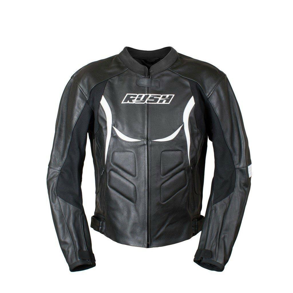 RUSH [RUSH] Мотокуртка FURY кожа, цвет Черный