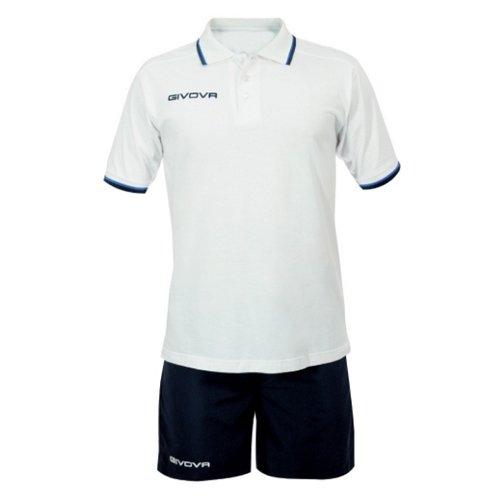Волейбольная форма Givova Street KIT032 white/blue р-р M