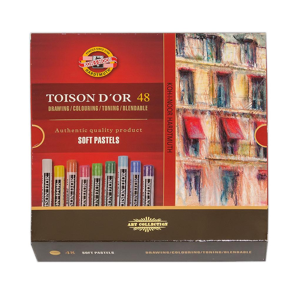 Пастель сухая KOH-I-NOOR TOISON D'OR extra-soft pastels, экстра мягкая, 48 цветов