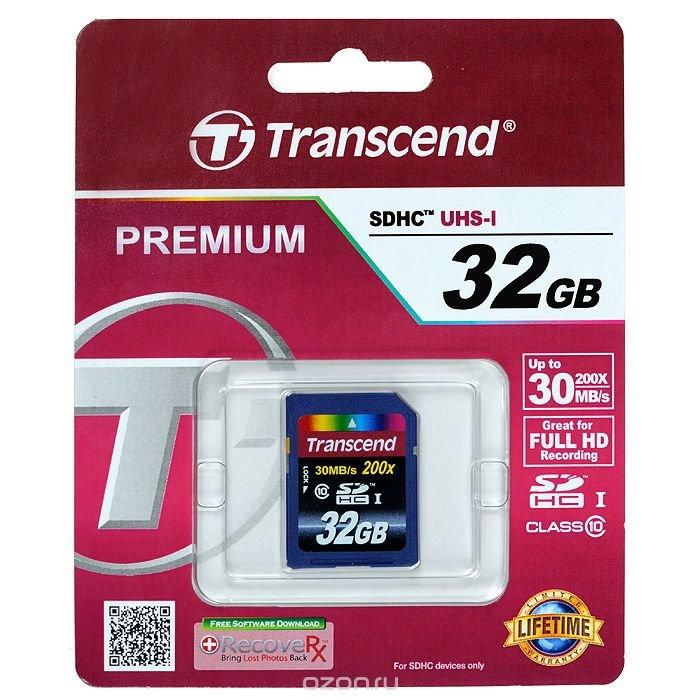 Transcend SDHC Class 10 32GB карта памяти