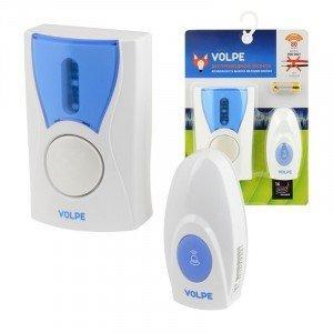 Volpe звонок беспроводной, 80м, 16 мелодий, индикатор, бел, блистер UDB-Q027 W-R1T1-16S-80M-WH
