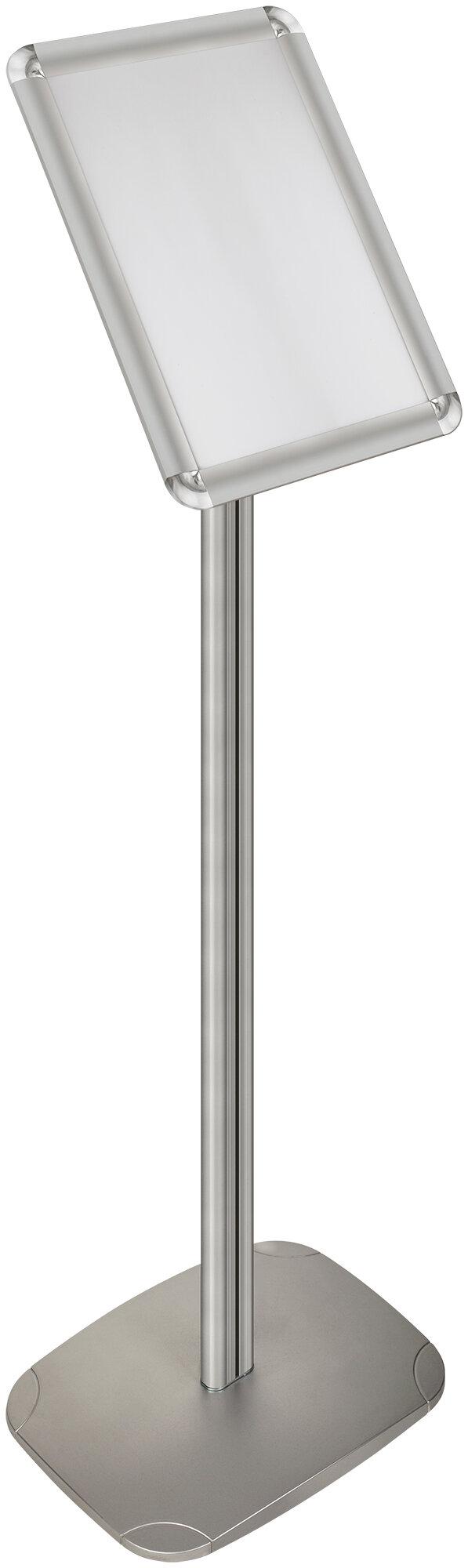 Светосила POS Стойка 1 метр с рамкой 21x30 (А4) алюминий-клик под углом 55 гр.