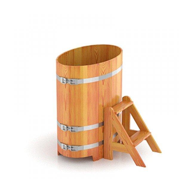 Купель для бани Bentwood овальная, 0,59х1,06х1 м из лиственницы натуральной