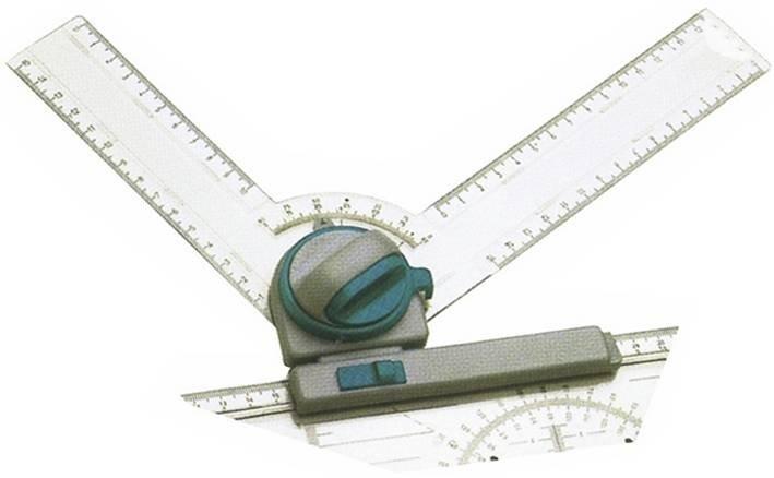 Транспортир Hebel Maul 6149801 двухсторонняя градуировка фиксация угла каждые 15 градусов