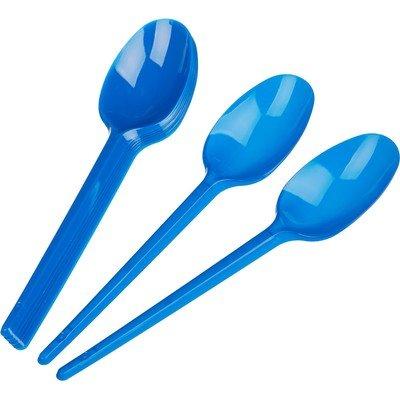 Ложка столовая одноразовая 165мм, синяя, ПС 12 шт/уп. 90уп/кор.
