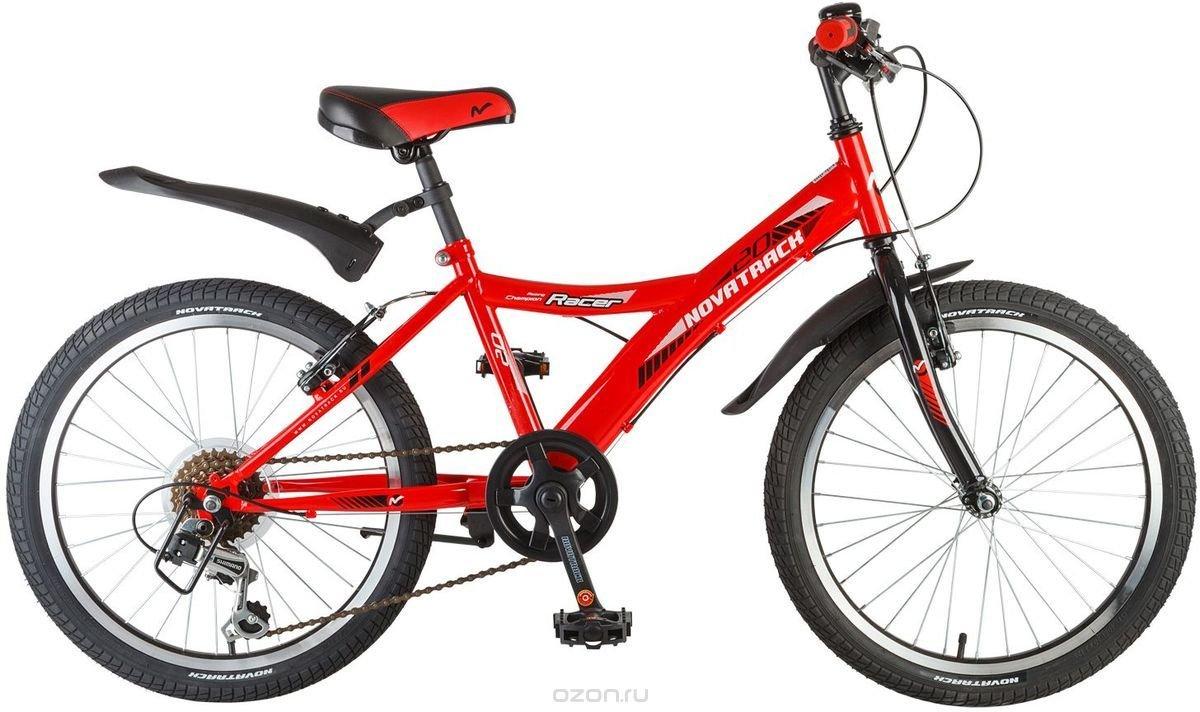 """Велосипед детский Novatrack """"Racer"""", цвет: красный, 20"""""""