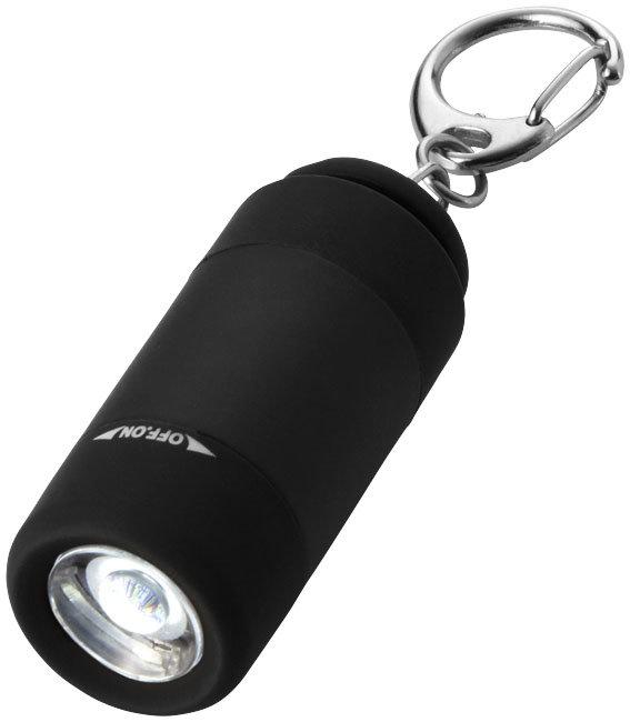 Фонарик - брелок светодиодный MLKB-3U, USB, цвет черный