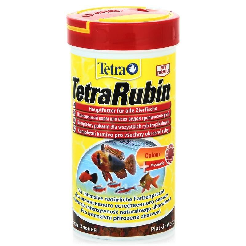 Корм для усиления насыщенности окраса Tetra Rubin Flocken, хлопья, 250мл