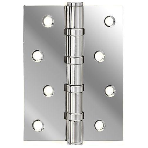 Петля дверная латунная универсальная Armadillo 500-C4 100x75x3 CP Хром