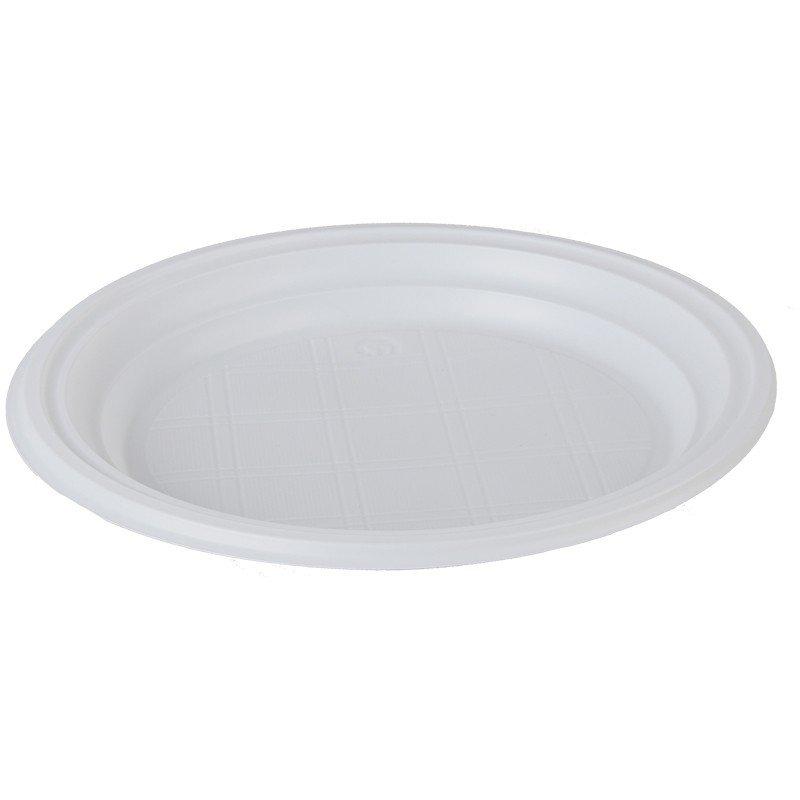 Тарелки одноразовые десертные OfficeClean, ПС, белые, 17см, уп. 100шт.